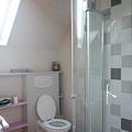 la mignonne salle de bains d'en haut